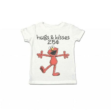 Elmo XOXO Hugs & Kisses 25 Cents Toddler White - Emo Girls