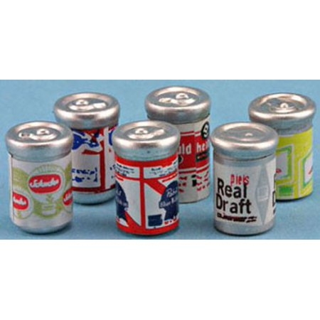 Dollhouse Beer Cans, 6Pk