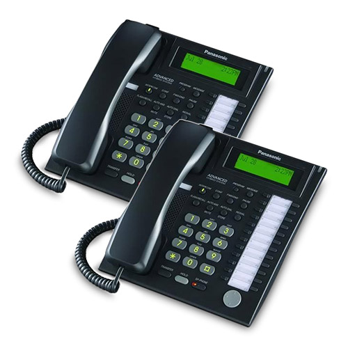 Panasonic-KX-T7736B (2 Pack) Speakerphone Telephone With LCD