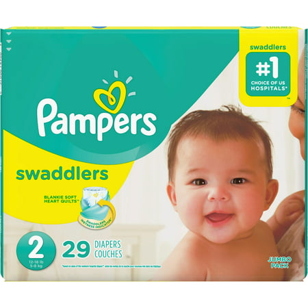 Pampers Swaddlers Diapers, Size 2  29 ea (Pack of 2)
