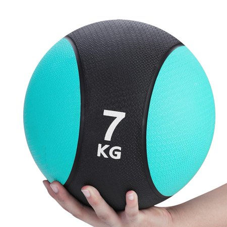 HERCHR Fitness Ball, Weighted Fitness Medicine Rubber Ball for Gym Muscle Training Exercise, Exercise Ball (Gym Medicine Ball)