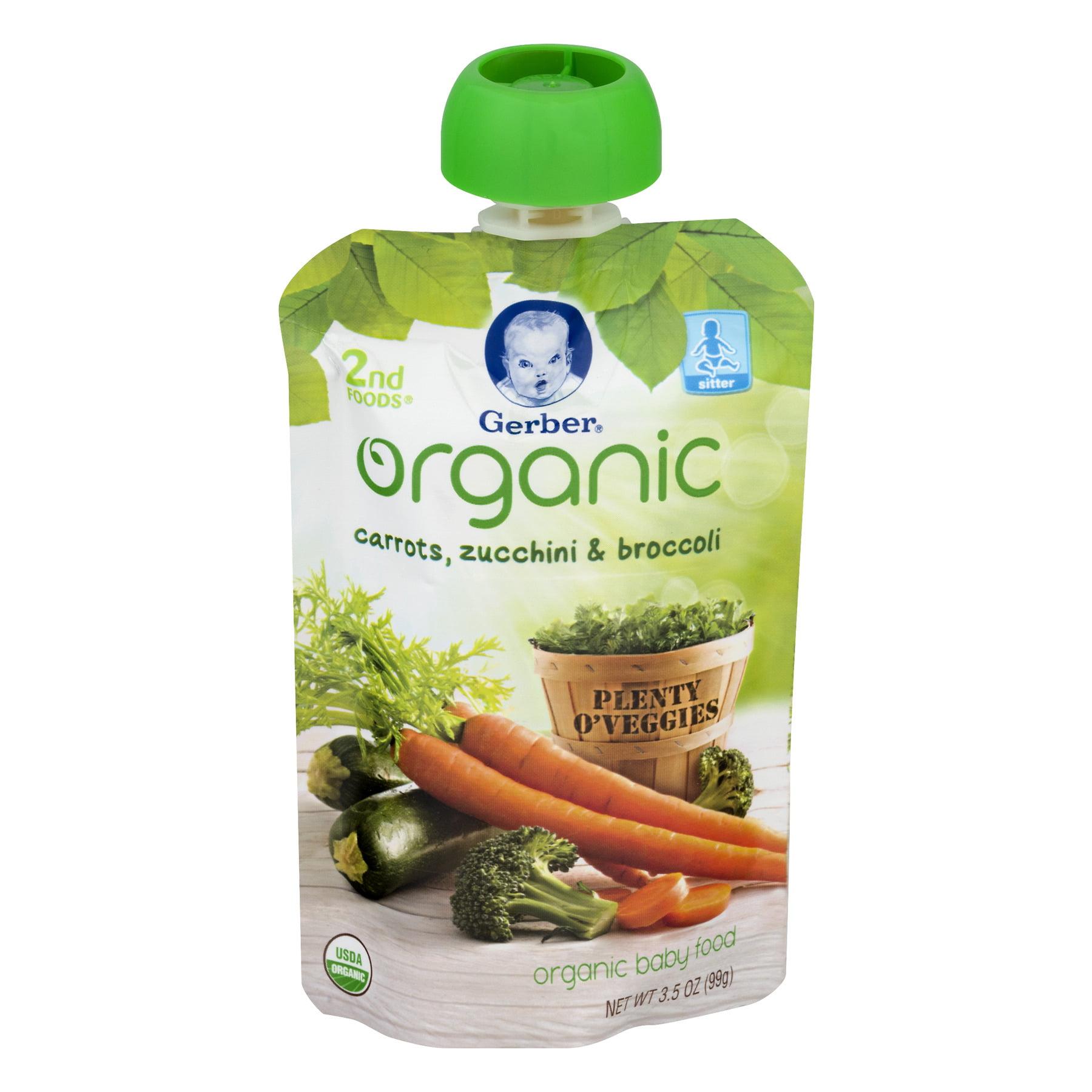 Certified organic baby food