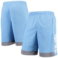 Men's Russell Athletic Carolina Blue North Carolina Tar Heels Athletic Fit Colorblocked Training Shorts