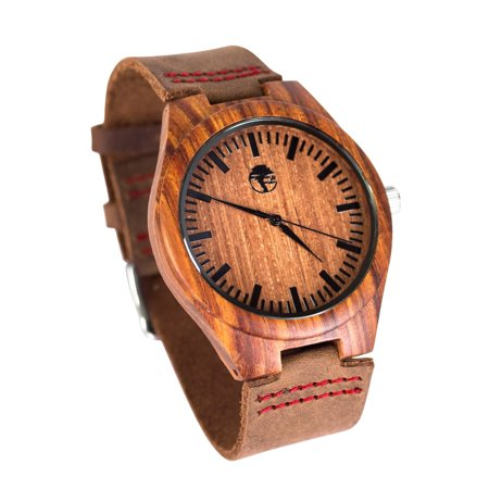 Men's Wood Watch Real Sandalwood Bezel Bamboo - Face Bezel