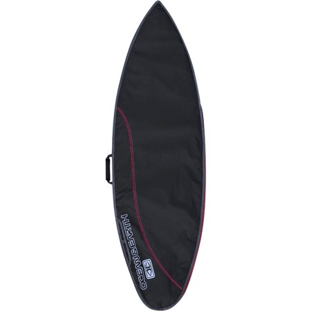 Ocean & Earth Compact Day Black / Red Shortboard Board Bag - Fits 1 Board - 22.5