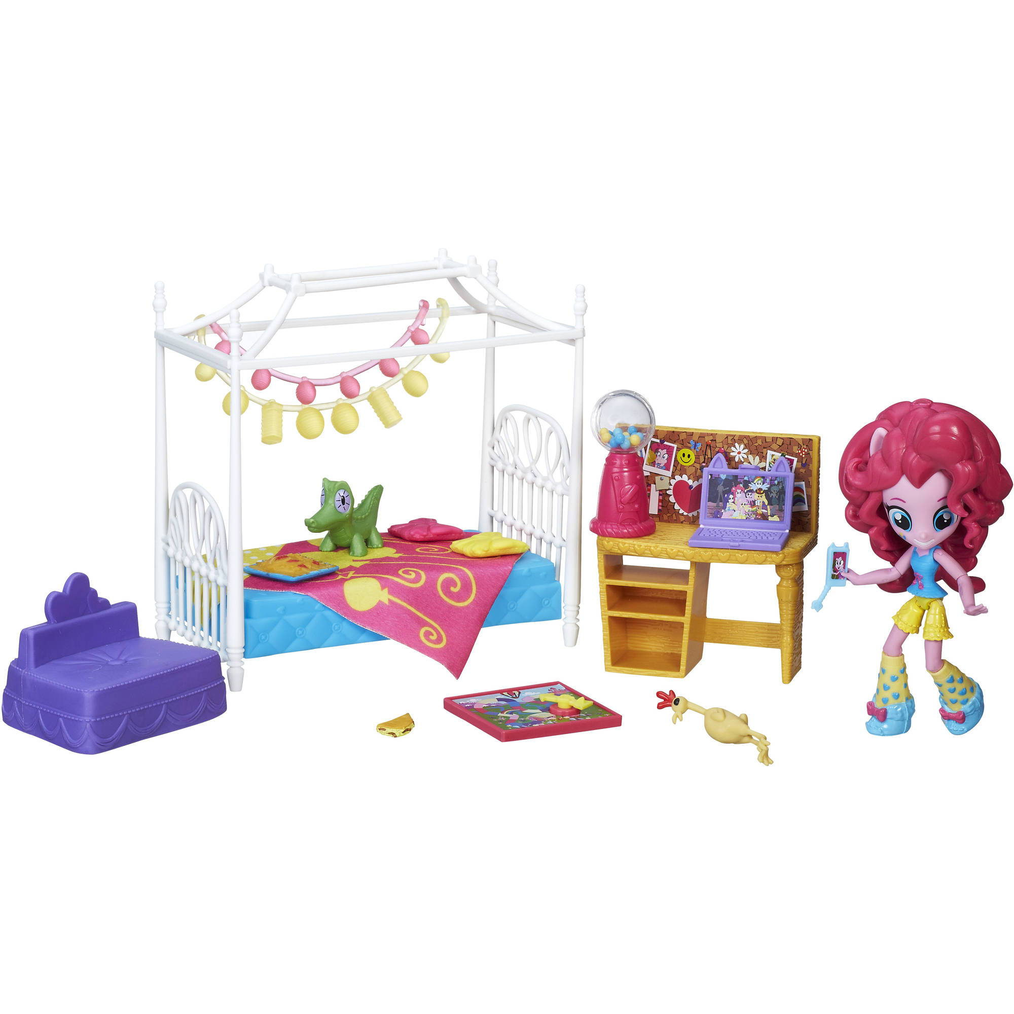 My Little Pony Equestria Girls Minis Pinkie Pie Slumber Party Bedroom Set by Hasbro