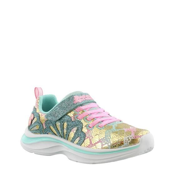 Skechers Double Dreams Mermaid Music Sneaker Girls aqua pink