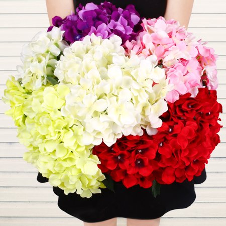 1 Bunch of 7 flowers Faux Artificial Silk Flower Hydrangea Leaves Wedding Party Decor Craft ()