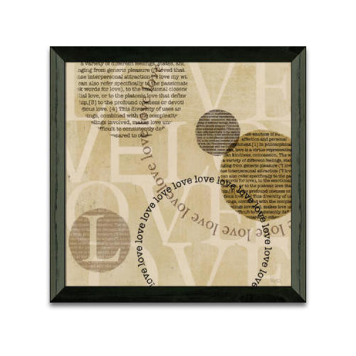 Timeless Frames Circle of Words Love Framed Textual Art