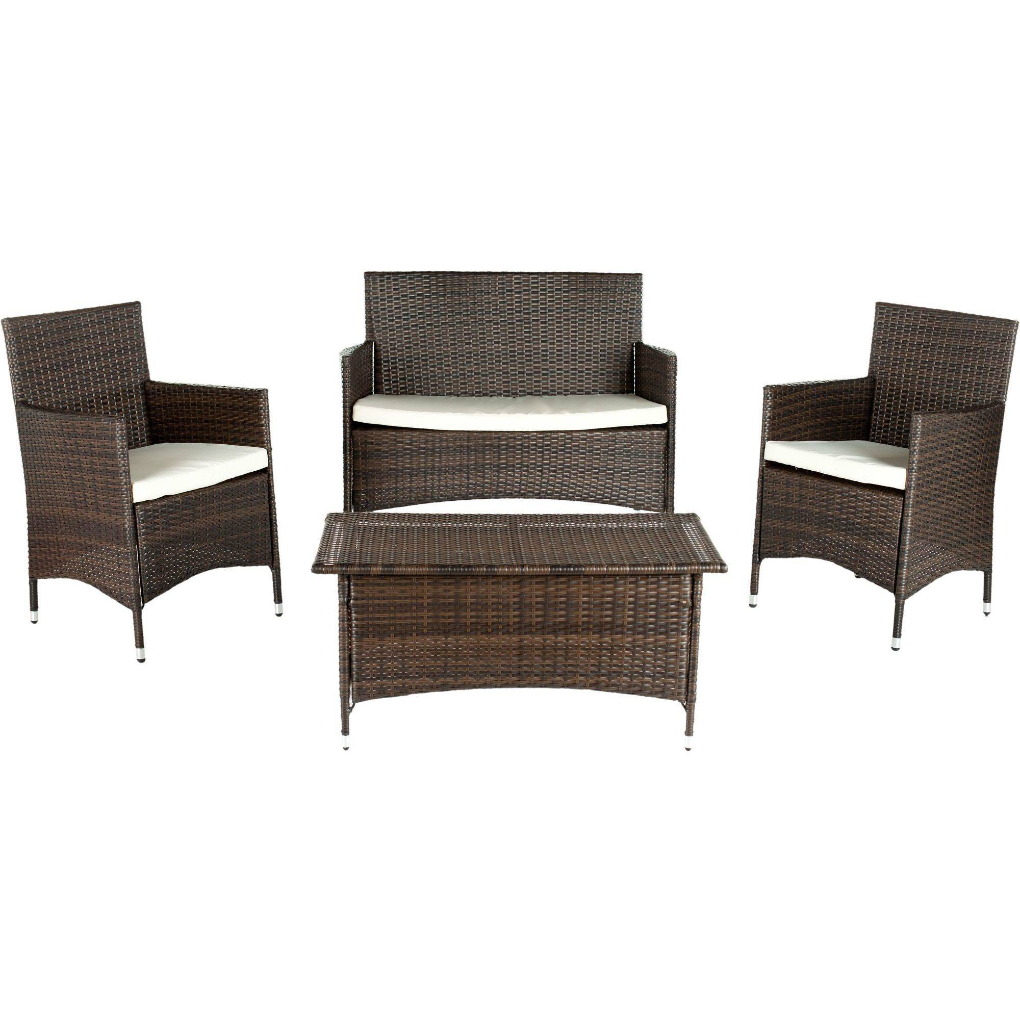 Safavieh Mojavi 4 Piece Wicker Outdoor Set   Walmart.com