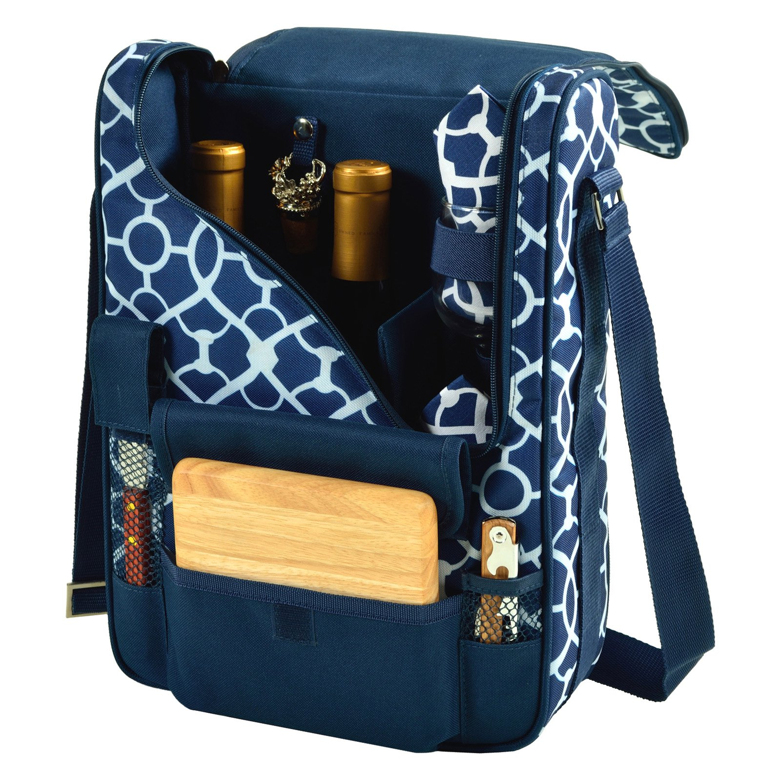 Picnic at Ascot 2 Person Deluxe Wine and Cheese Cooler Bag