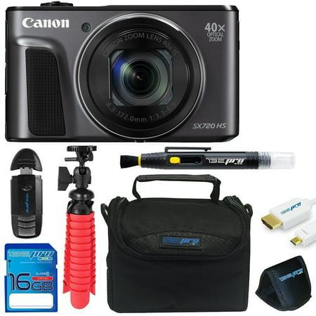 Canon PowerShot SX720 HS Digital Camera + Sd Card + Pixi Essentials Bundle Kit -  Pixibytes