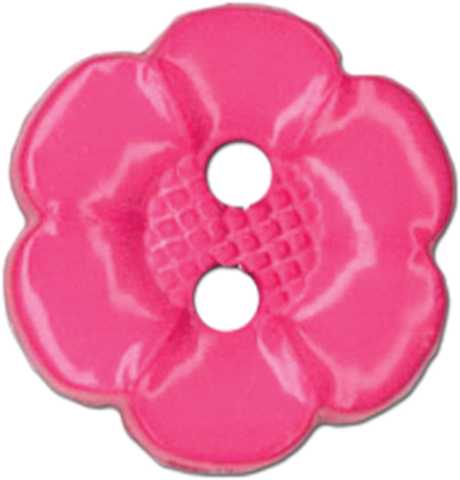 Blumenthal Lansing Slimline Buttons Series Funtastics: Pink Flower 2-Hole 5/8 3/Card Multi-Colored