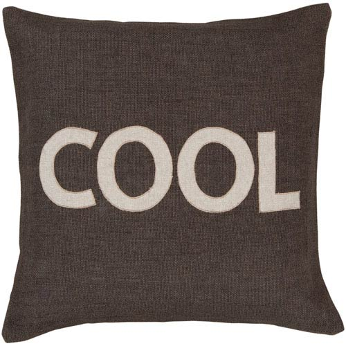 Cool Charcoal Jute 22 x 22 Pillow