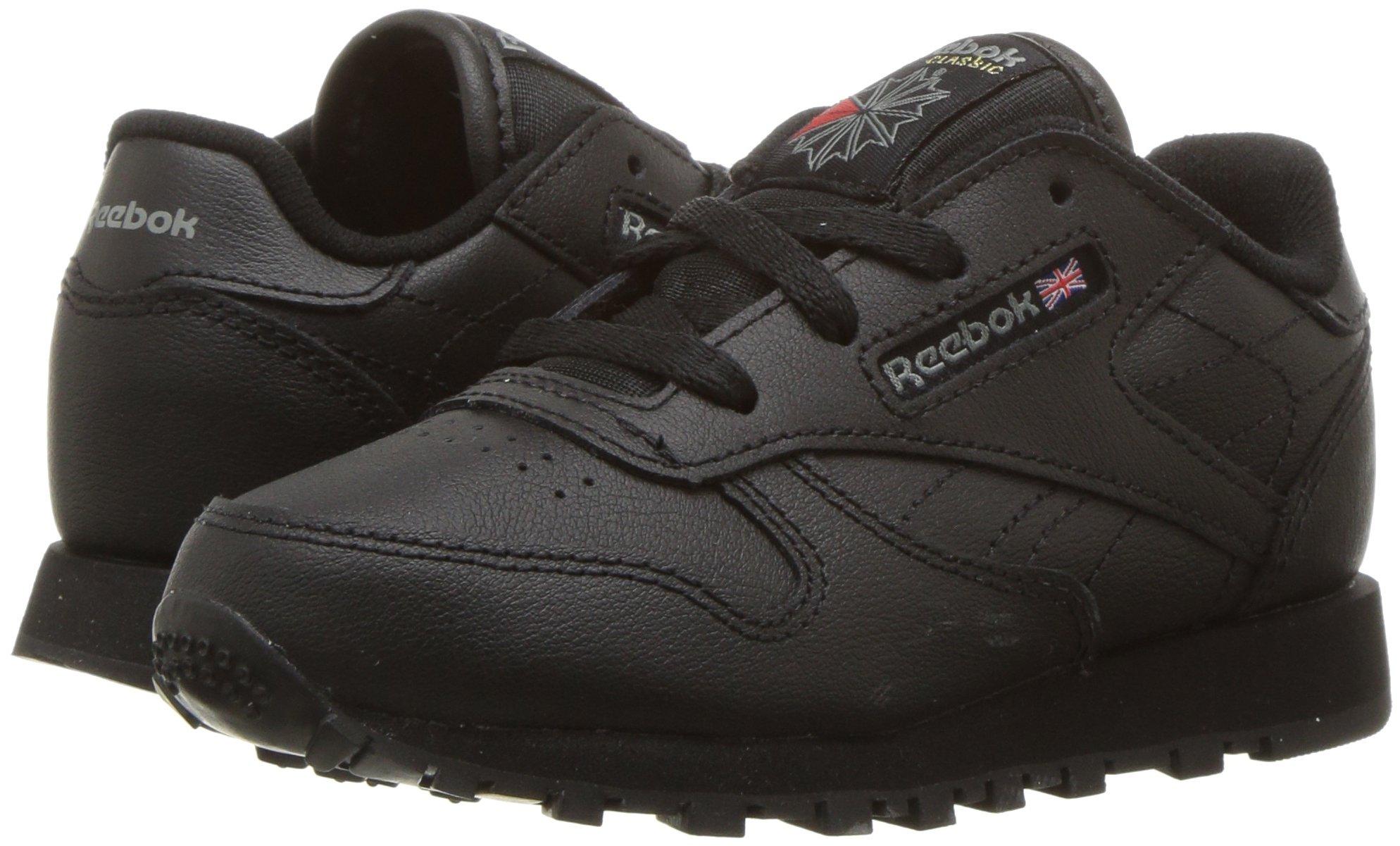 ec235e7825e Reebok - Reebok 92757  Infant Toddler Classic Leather Black Sneaker (8 M US  Toddler) - Walmart.com
