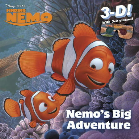 Nemo's Big Adventure (Disney/Pixar Finding Nemo) A full-color paperback storybook in 3-D, featuring Disney/Pixar Finding Nemo!Relive the magic of Disney/Pixar Finding Nemo with Nemo's Big Adventure--in 3-D! This book features dazzling scenes from Finding Nemo with amazing 3-D on every page and a pair of 3-D glasses that will delight children ages 3 to 7.