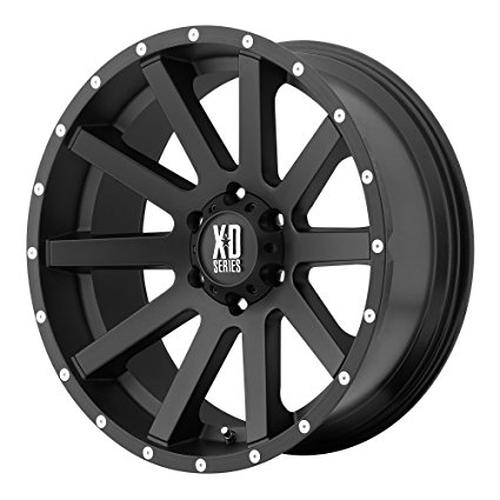 Xd Series By Kmc Wheels Xd818 Heist Satin Black Wheel With Milled Flange