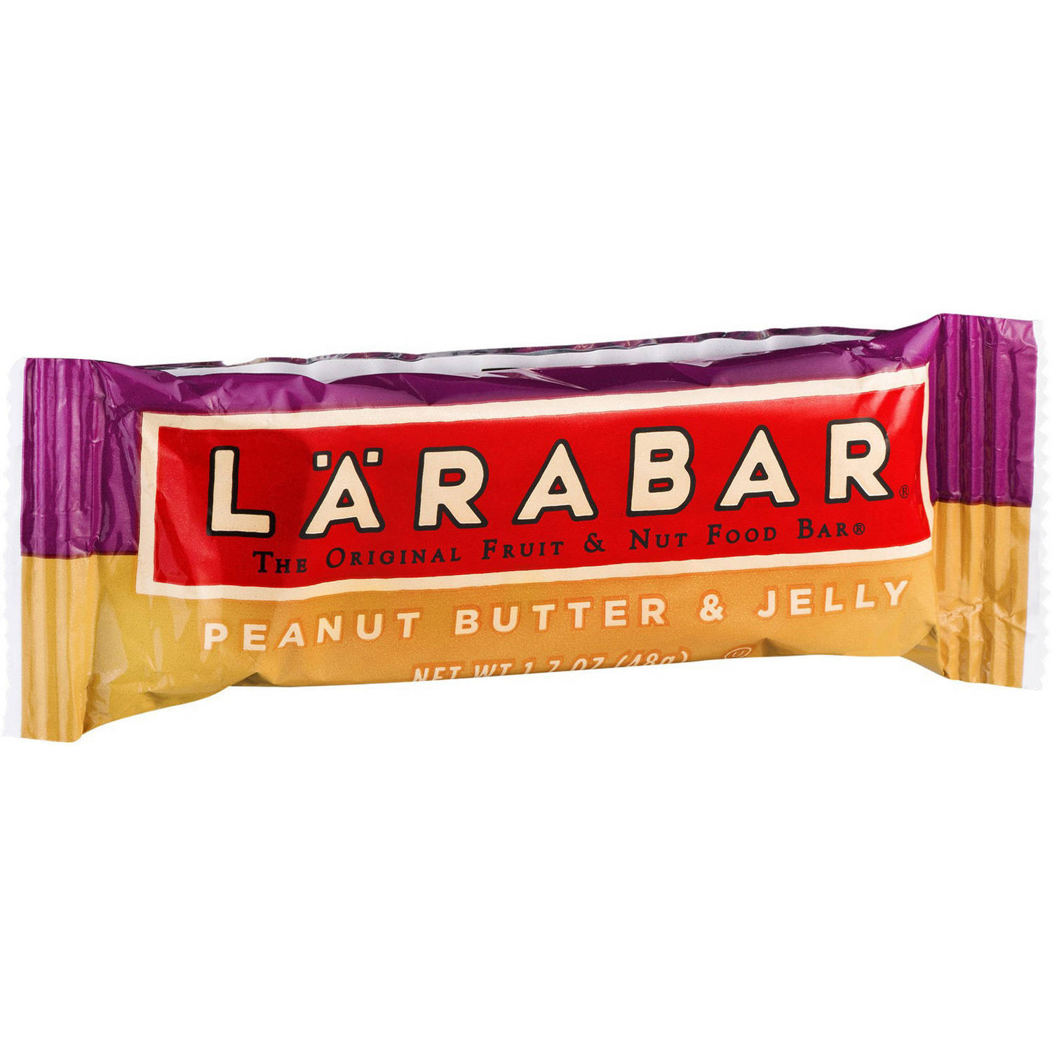Larabar Fruit & Nut Bar, Peanut Butter & Jelly, 6g Protein, 16 Ct