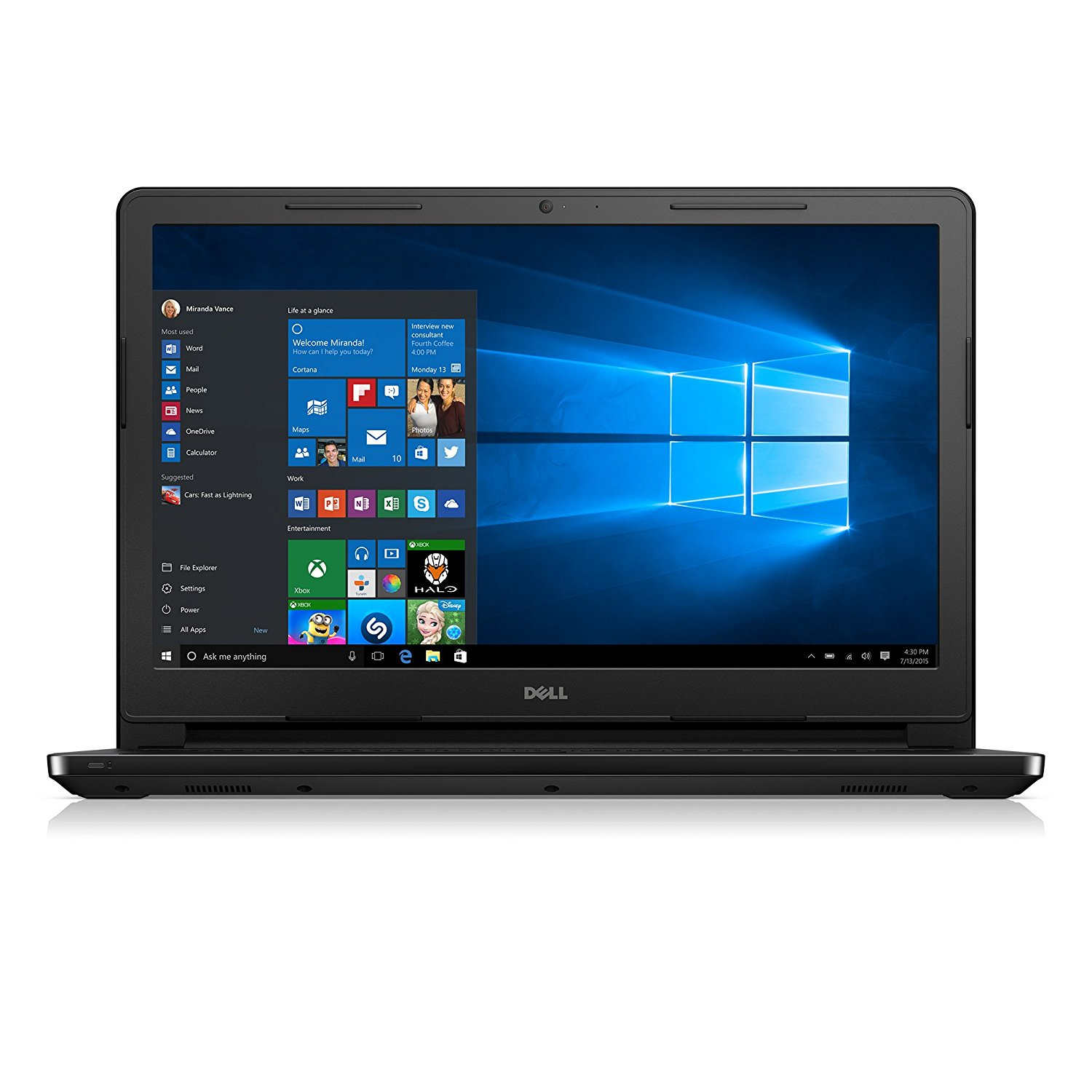 "NEW Dell i3552-3240BLK 15.6"" HD Laptop (Intel Pentium N3700 1.6GHz Processor, 4 GB DDR3L SDRAM, 500 GB HDD, Windows 10) Black"