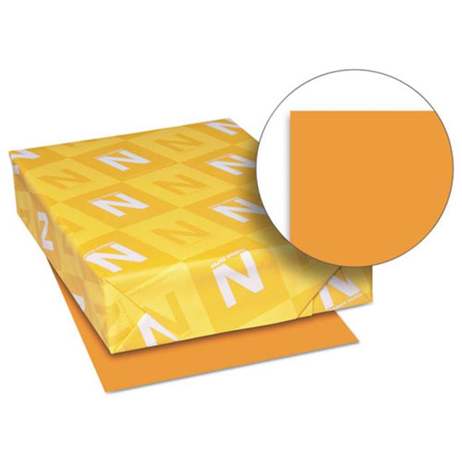 Wausau Papers 26721 8.5 x 11 Exact Brights Paper, Bright Orange