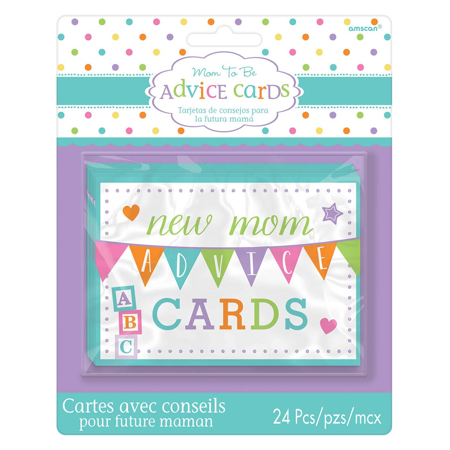 Baby Shower New Mommy Advice Cards 1