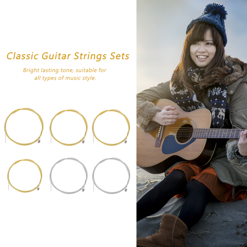 Classic Guitar Strings Sets Guitar Steel Wire Strings Guitar Accessories by YKS