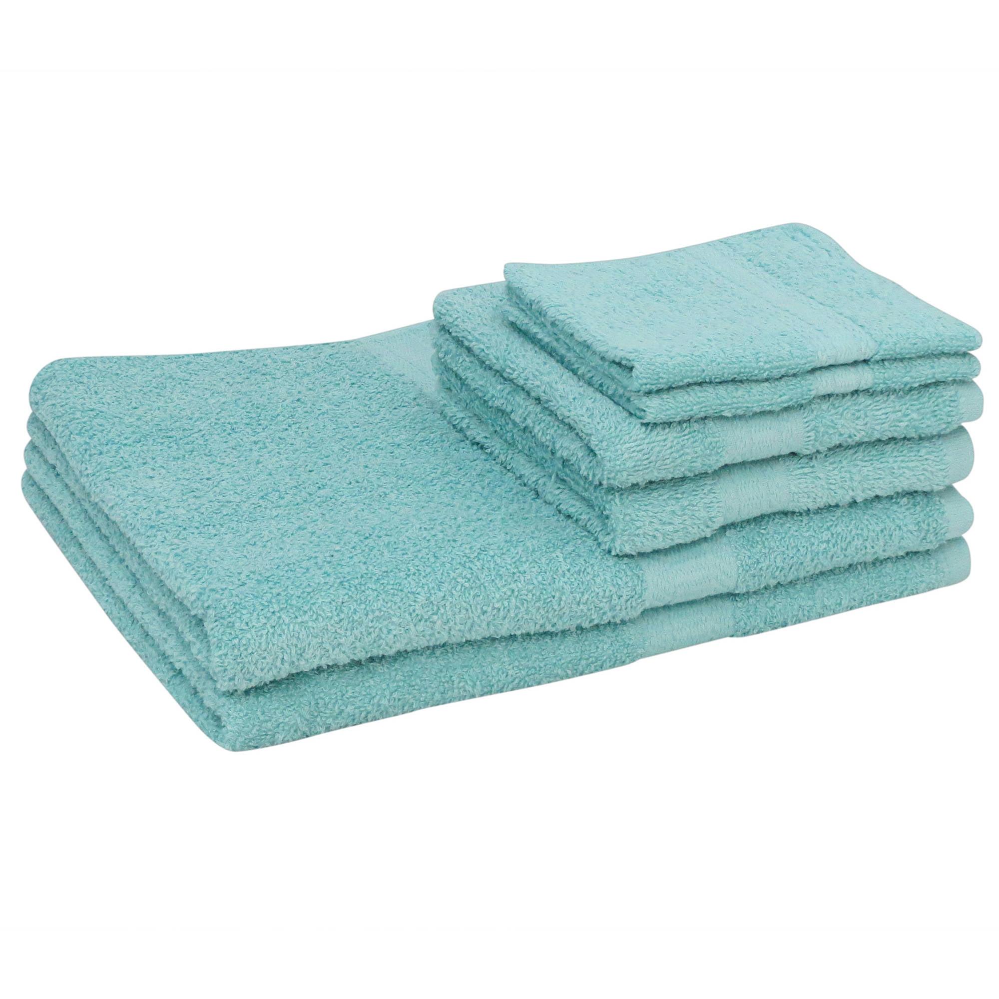 Mainstays Basic Cotton Bath Towel Set - 6 Piece Set ...