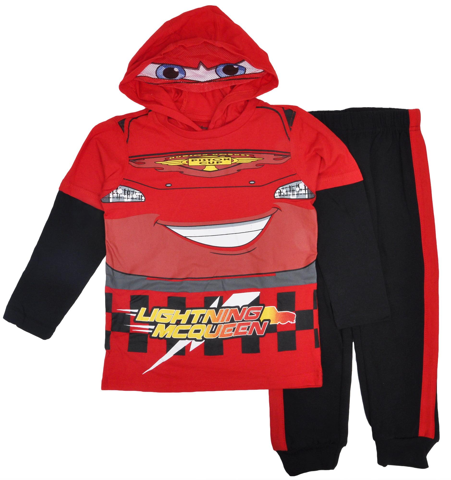 Disney Cars Lightning McQueen Long Sleeve Shirt /& Sweatpants Outfit