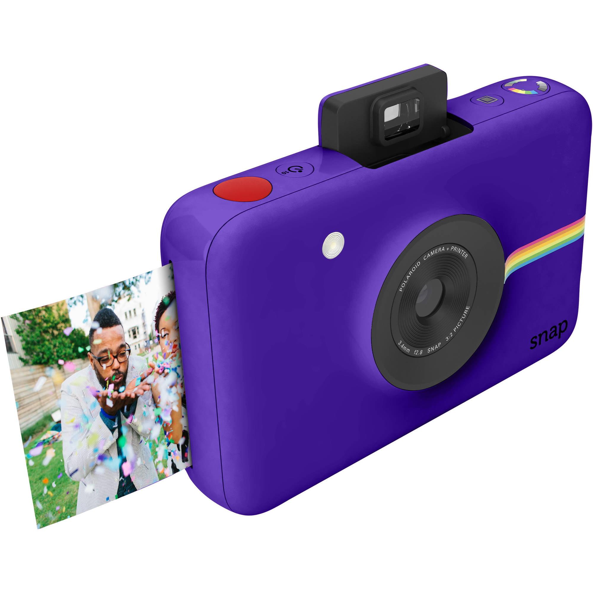 polaroid purple snap instant digital camera with 10