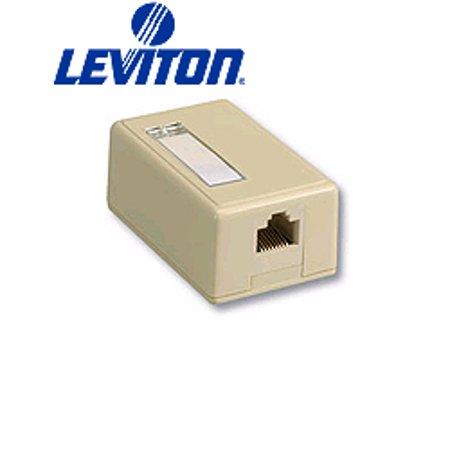1 Port Surface Mount Housing (Leviton 41089-1GP 1-Port QuickPort Surface Mount Housing - Gray )