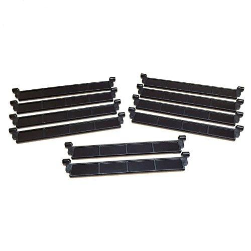 LEGO Parts~ 2 Garage Roller Door Section w//o Handle 4218 BLACK