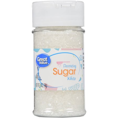 (3 Pack) Great Value Decorating Sugar, White, 3.5 oz