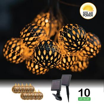 Solar MiniMetal Decorative Patio Lights