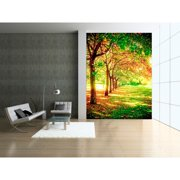 "Startonight Mural Wall Art Trees of life Illuminated Nature Wallpaper Photo 5 Stars Gift Large 3 x 24,02 '' x 50,4 '' Total 4'2""x 6'"