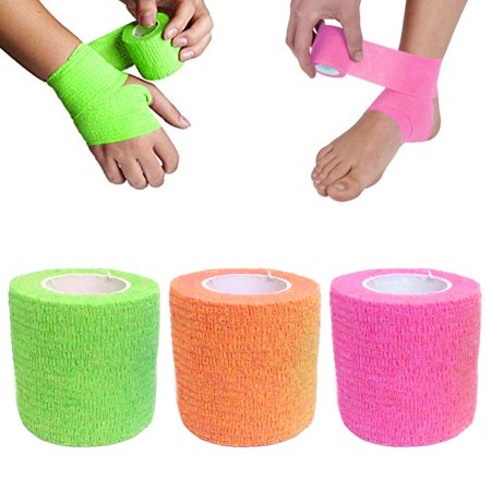 3 Pc Self Adhesive Elastic Bandage First Aid Medical Health Care Treatment - Elastic Adhesive