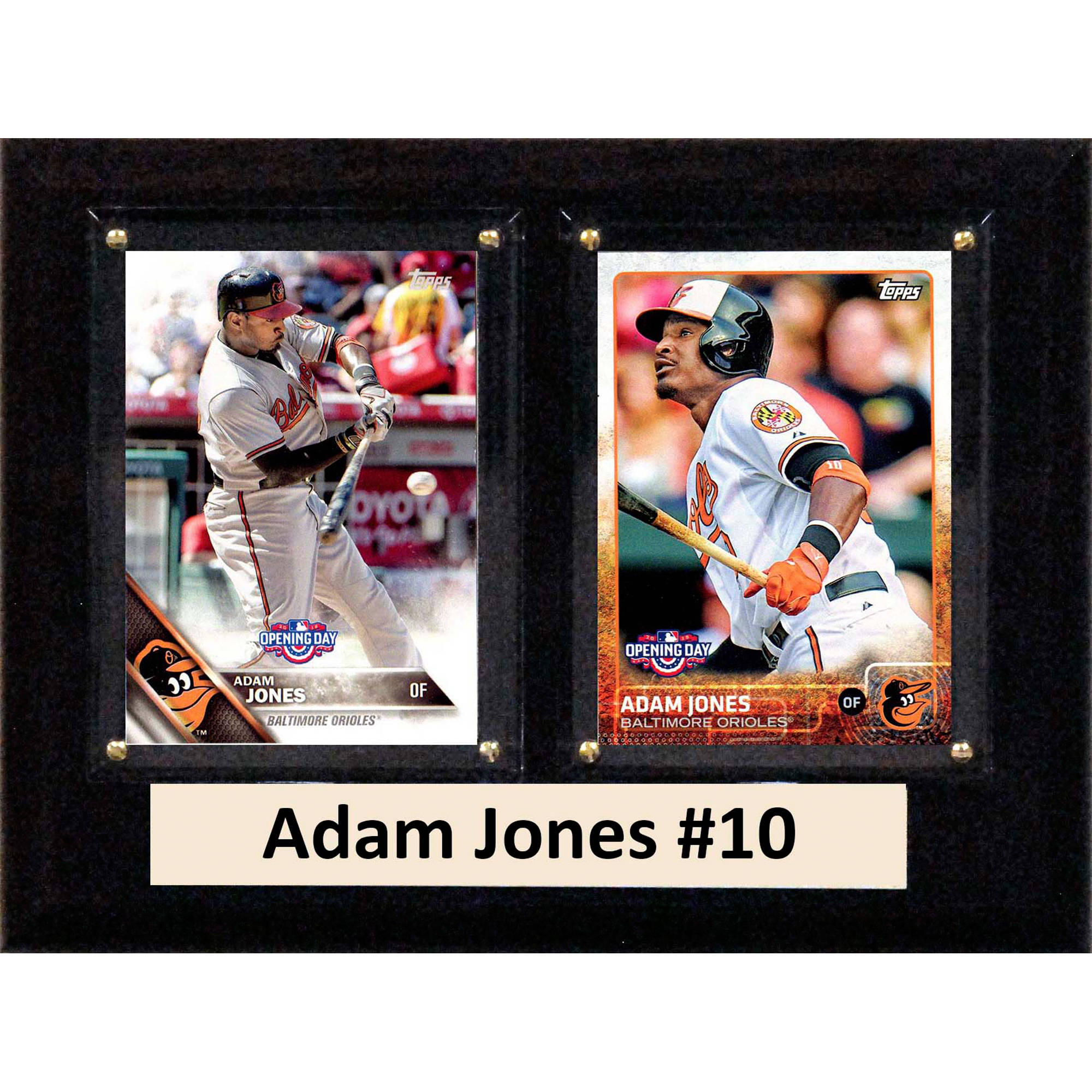 C&I Collectables MLB 6x8 Adam Jones Baltimore Orioles 2-Card Plaque