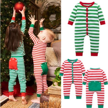 Cute Toddler Christmas Pajamas (Cute Baby Girls Boys Christmas Pajamas Set Kids Sleepwear Nightwear)