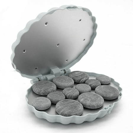 - Royal Massage Clamshell (Large) Hot Stone Heater w/12 Hot Rocks