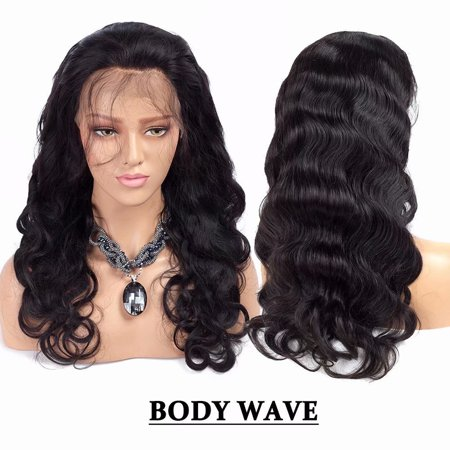 Hair Lace Front (BOWIN Lace Front Wig 150% Density Brazilian Virgin Hair Body Wave with Pre-plucked Hairline and Baby Hair,)