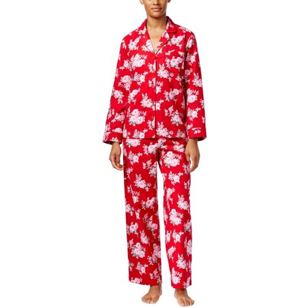 58ac070740 Charter Club - Charter Club Intimates Womens Red Floral Printed Pajama Set  Small S - Walmart.com