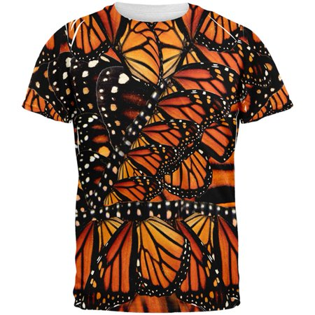 Mens Halloween Ideas 2017 (Halloween Monarch Butterfly Costume All Over Mens T)