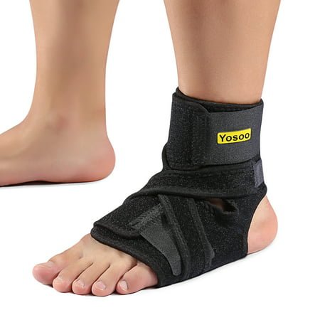 VGEBY Plantar Fasciitis Night Splints for Drop Foot Orthotic Brace and a Hard Spiky Massage Ball Roller for Women and Men Sleeping and Resting, Fits Both Left and Right