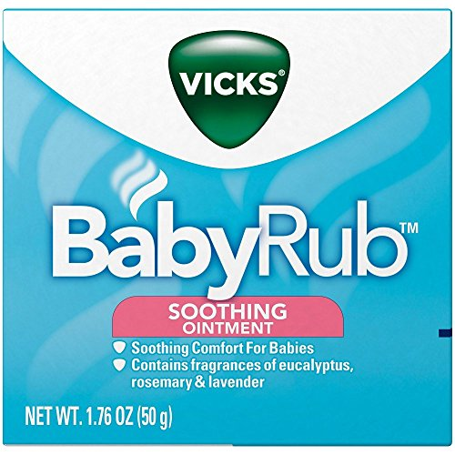 2 Pack - Vicks Babyrub Soothing Ointment Comfort For Babies 1.76oz Each