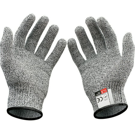 1 Pair Cut Resistant Gloves, Safety Work Glove, Good Performance Level 5 Protection Cuts Glove, Food Grade, Large Size - image 1 of 8