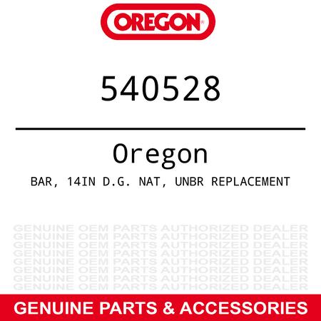Oregon 540528 - Genuine  BAR 14IN D.G. NAT UNBR REPLACEMENT Part#