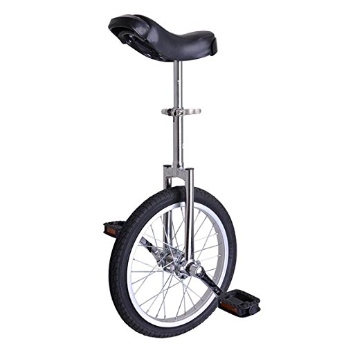 "16"" Inch Wheel Performance Unicycle - CHROME, * Frame : Excellent Manganese Steel, Standard Frame of Unicycle By Triprel Inc"