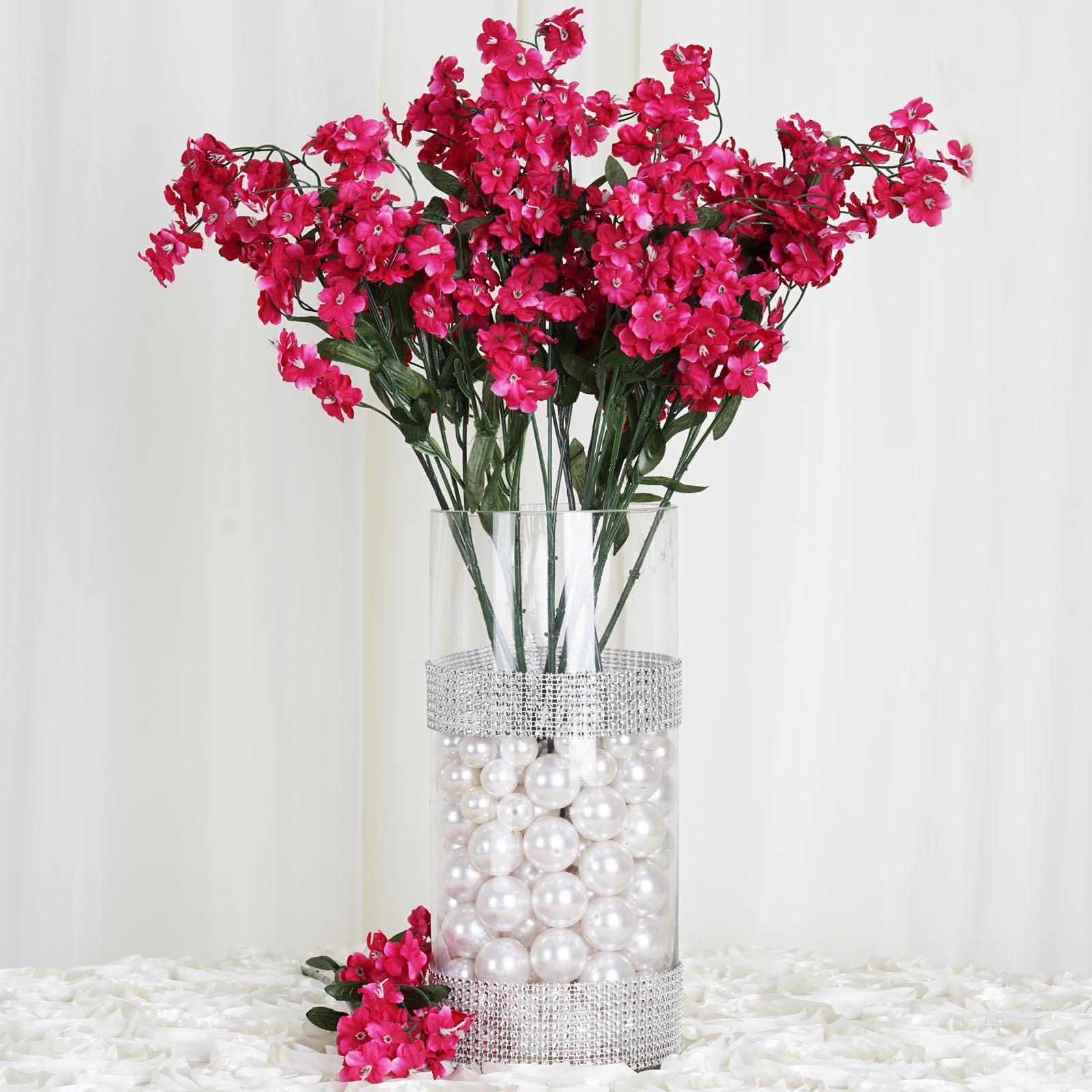 Efavormart 12 bushes BABY BREATH Artificial FILLER FLOWERS for DIY Wedding Bouquets Centerpieces Arrangements Party Home Decoration
