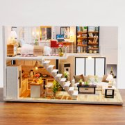 diy creative gifts handmade cabin house model M013