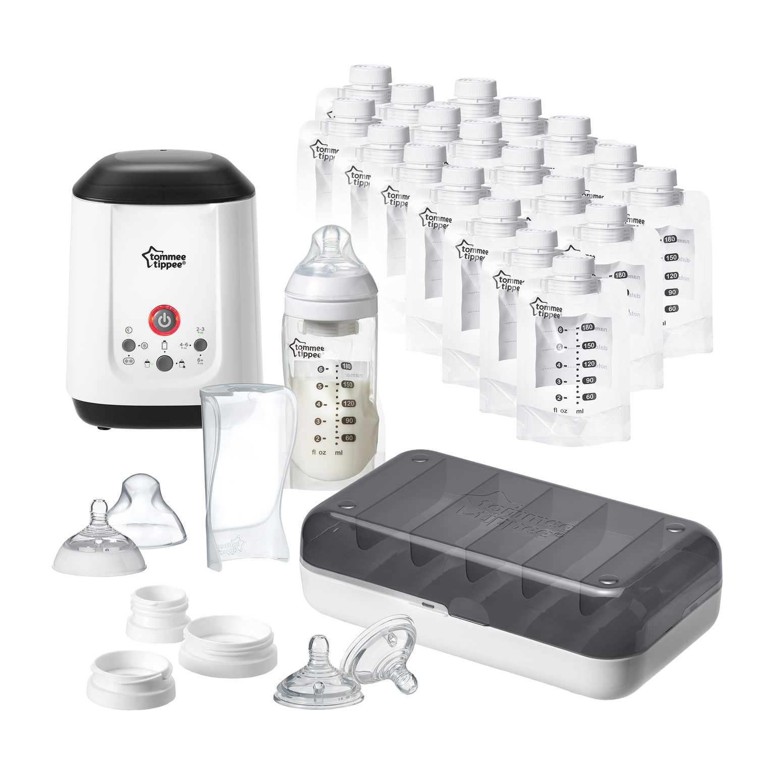 Tommee Tippee Pump and Go Starter Set, 28 pieces