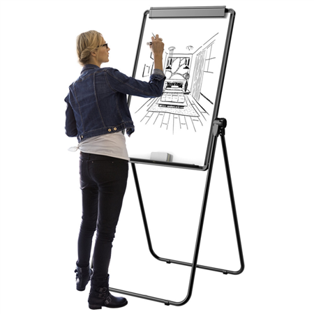 Whiteboard Stand - Topeakmart Adjustable U-Stand Whiteboard Magnetic Double Sided 360 Degrees Rotating White Board w/1 Eraser & 12 Magnets
